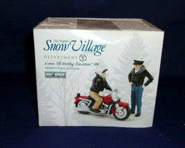 "Dept. 56 Snow Village ""A New '56 Harley Davidson KH"" #4020224  NIB - $18.70"