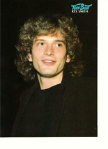 Rex Smith teen magazine pinup clipping Teen Beat black shirt thinking 19... - $2.00