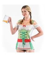 Sintetico Vero Donna Oktoberfest Birra Germania Dirndl Costume Maglietta... - $31.39