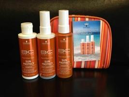Schwarzkopf BonaCure Sun Protect Travel Kit Shampoo Conditioner & Oil EX... - $29.65