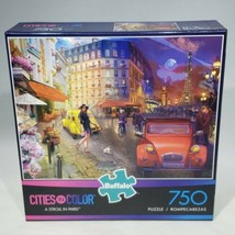 Buffalo A Stroll in Paris Cities in Color Jigsaw Puzzle 750 Pieces EUC C... - $21.95
