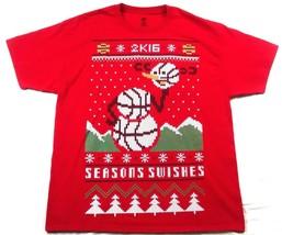 GameStop Video Game Promo T Shirt XL NBA 2K16 Seasons Swishes Christmas 2016 - $6.76