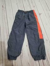 Osh kosh size 6 gray/orange striped pants - $6.64