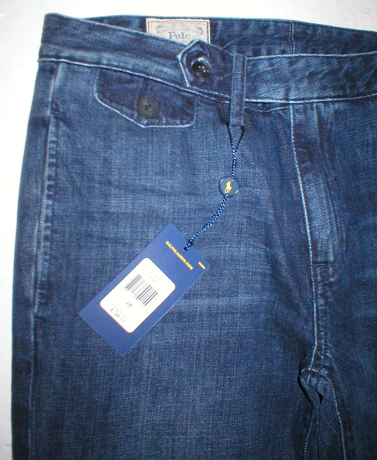 New Womens Ralph Lauren Polo Jeans NWT $198 Flare Tall 31 Tailored Look Dark