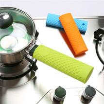 Rhombus Silicone Pan Handle Mitts Cover Insulation Non-slip Handle Sleeve - $2.99