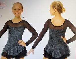 Mondor Model 669 Ladies Skating Dress - Black/Silver Size Adult Medium - $105.00