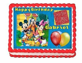 Mickey Mouse Clubhouse edible cake image frosting sheet - personalized free - $8.87