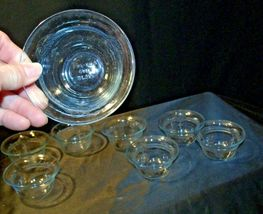 Pale Blue Depression Glass Custard Cups Fire-King AA19-CD0051 Vintage ( Set of image 3