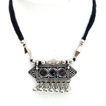 Silver Oxidize Imitation Necklace Pendant Choker Collar Long String Jewe... - $4.93