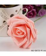 Hot 1 Pc 8cm Artificial Foam Rose Flowers Wedding Decoration Hand-make C... - $0.30+