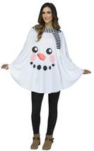 Plush White Adult Snowman Poncho by Fun World™/NWT - $28.45