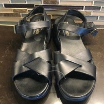 Skechers shape-ups black leather sandals - $49.50