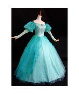 Little Mermaid Princess Ariel Dress Costume Teal Sequins Park Version - $185.00