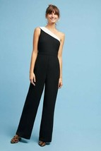 New Anthropologie Victoria One-Shoulder Jumpsuit by Greylin  $158 SMALL ... - $61.38