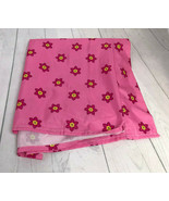 Disney Minnie Mouse Pink Floral Crib Toddler Bed Flat Sheet - $14.95