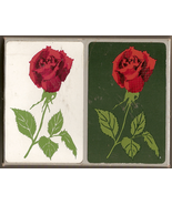 Vintage Lord & Taylor Playing Cards 2 decks Red Rose Dark Green/White - $6.00