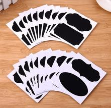 (40 pcs)5set/75pcs Blackboard Sticker Craft Kitchen Jar Jar Classificati... - $16.00