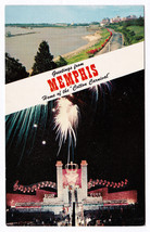1950s Greetings from Memphis TN Home of the Cotton Carnival River RARE P... - $9.89
