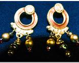 Gold dangle earrings thumb155 crop