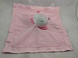 Carters Child of Mine Pink Owl Lovey Security Blanket Stuffed Animal toy - $8.05