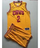 Men's Cleveland Cavaliers #2 Kyrie Irving basketball jersey suit Yellow.jpg - $45.99