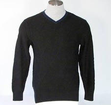 Tommy Hilfiger Black V-Neck Cotton Knit Sweater Mens NWT $85 - $63.74