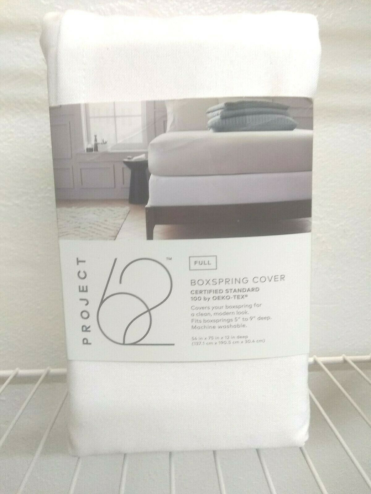 Solid Box Spring Cover - Project 62™ WHITE FULL SIZE. -- SEALED NEW-