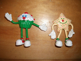 1988 Applause Lot of 2 Bakery Bendable Figure CUPCAKE Star COOKIE With S... - $9.99
