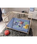 Construction Trucks Baby Boy Crib Nursery Bedding Blue for Baby Shower M... - $94.00