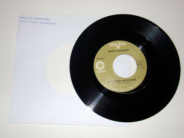 Vtg Merle Haggard~Okie From Muskogee~Daddy Frank The Guitar Man 45 Recor... - $4.75