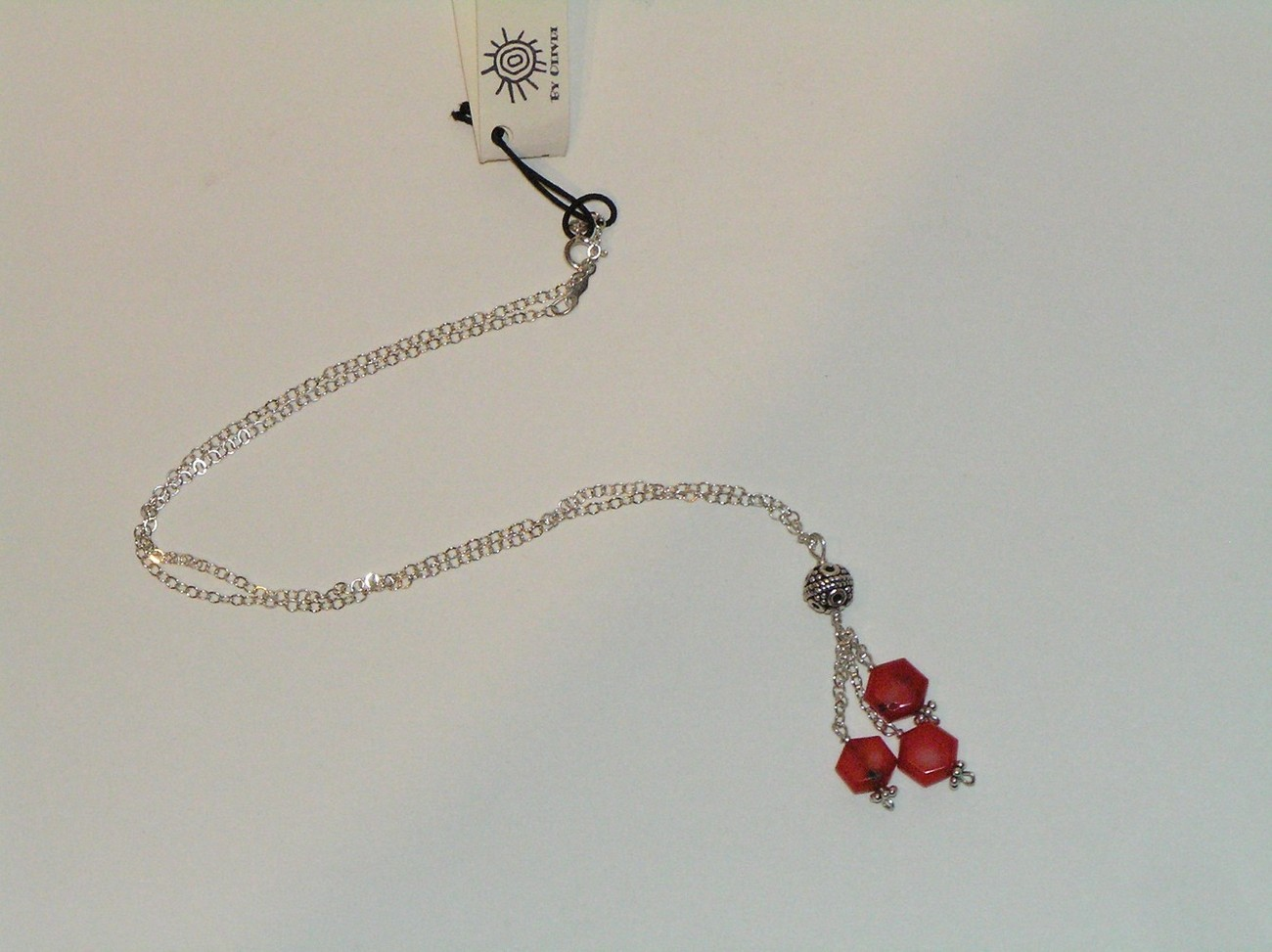 Silver Coral 'Raindrops' Necklace