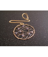 Gold Tanzanite Dream Catcher Necklace - $68.00