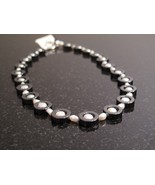 Silver Pearl and Hematite Necklace - $48.00