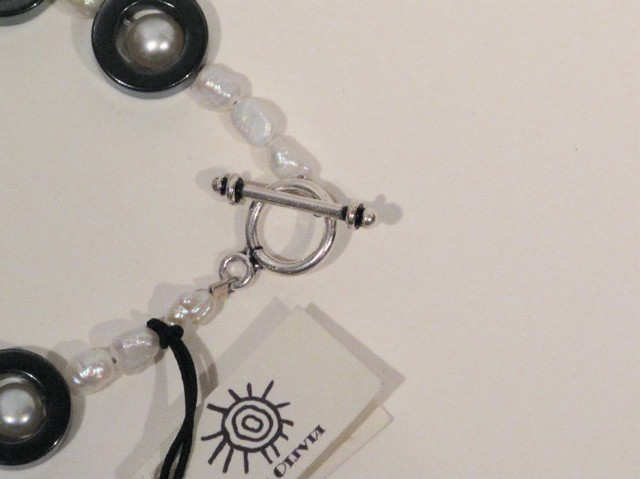 Silver Pearl and Hematite Necklace