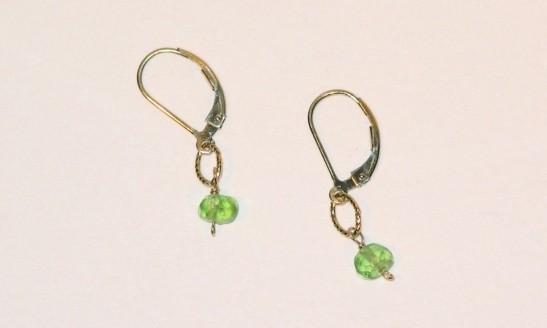 Gold Peridot Earrings