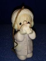 1987 PRECIOUS MOMENTS CHRISTMAS ORNAMENT # 112372.  I'M SENDING YOU A WH... - $9.80