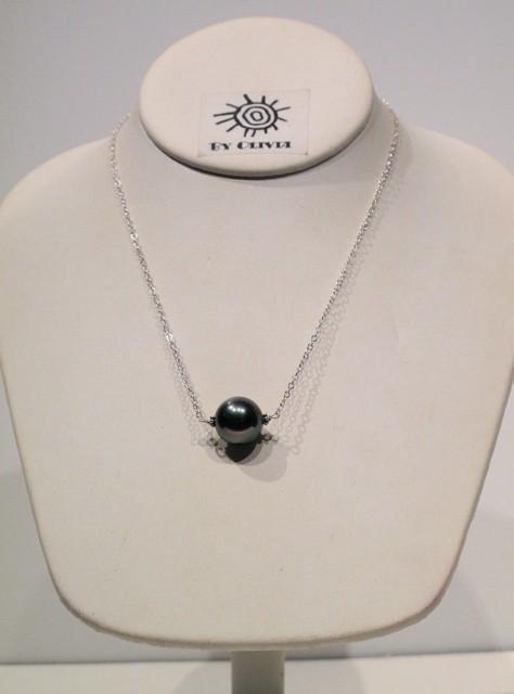 Silver Grey Pearl Necklace