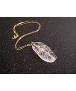 Gold Crackled Quartz Wrapped Necklace - $42.00