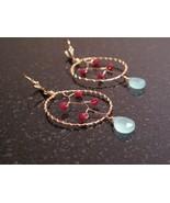 Gold Ruby Dream Catcher Earrings  - $56.00