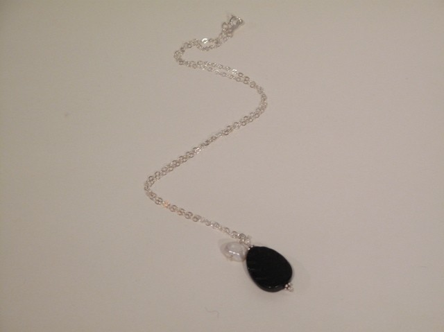 Black Onyx and Pearl 'berries' Necklace