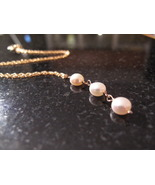 Gold Triple Pearl Necklace - $45.00