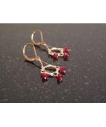 Gold Ruby Chandelier Earrings - $38.00