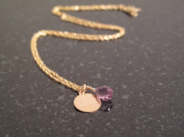 Love Conquers All - Gold Amethyst Berries Necklace