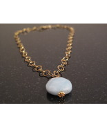 Gold Amazonite link necklace - $52.00