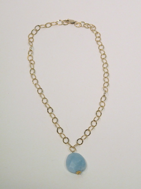 Gold Amazonite link necklace