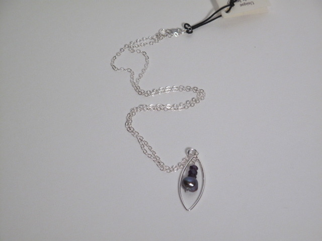 Silver Amethyst and Pearl necklace