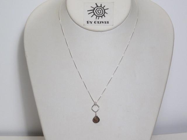 Silver Smokey Quartz Necklace