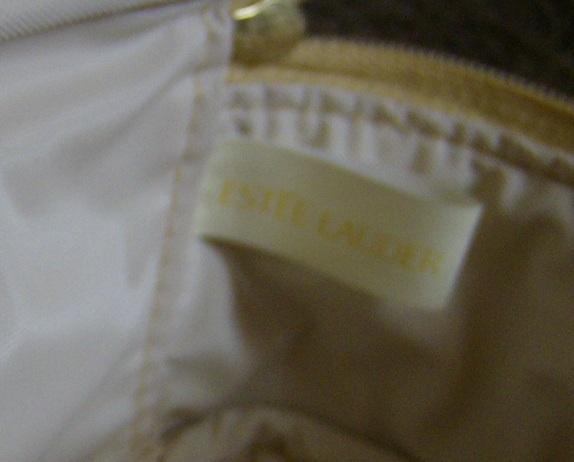 Estee Lauder  Gold Color Cosmetic Bag  clutch bag