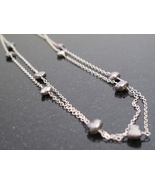Long Silver Pearl Necklace - $45.00