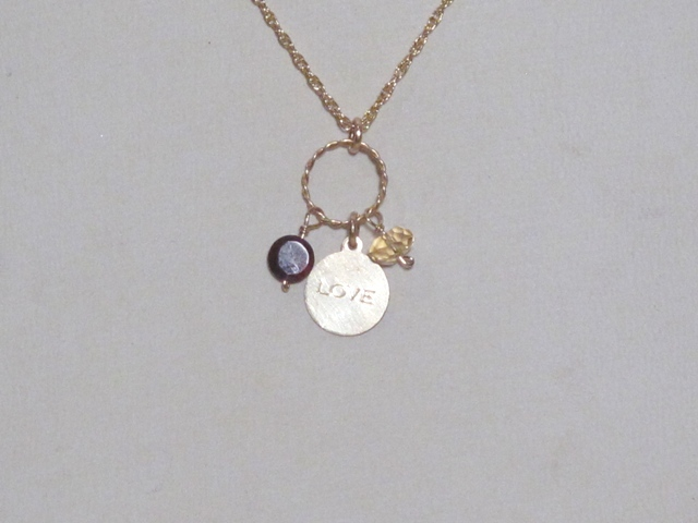 Gold Love Berries Necklace